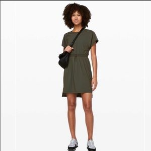 Lululemon Throw It On Dress. Size 2. Olive Green